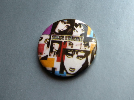 Siouxsie and the Banshees 'Once Upon A Time' design badge.