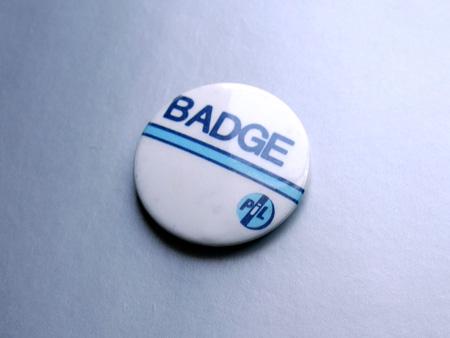 Public Image Ltd 'Badge' design button badge, from the 'Abum' era, 1986