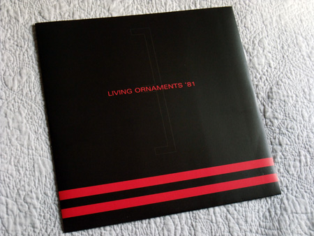 Gary Numan '80/81' Box Set - Disc 3 - 'Living Ornaments 81' inner sleeve front