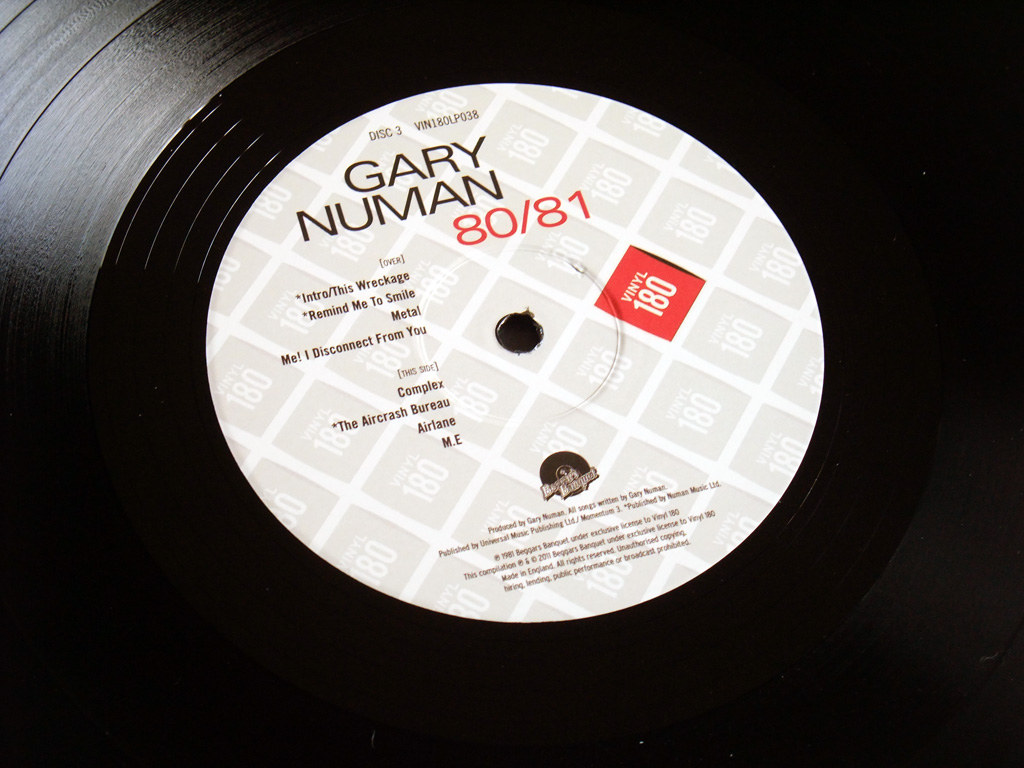 Gary Numan '80/81' Box Set - Disc 3 - 'Living Ornaments 81' label side 2