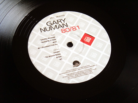 Gary Numan '80/81' Box Set - Disc 3 - 'Living Ornaments 81' label side 2