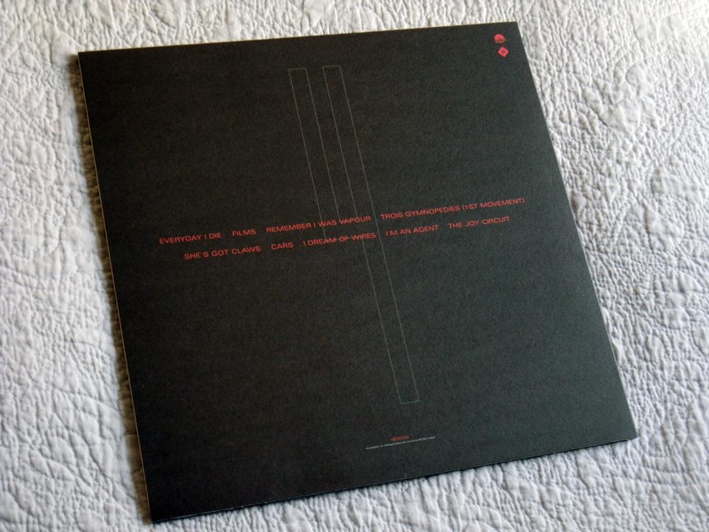 Gary Numan '80/81' Box Set - Disc 4 - 'Living Ornaments 81' sleeve rear cover