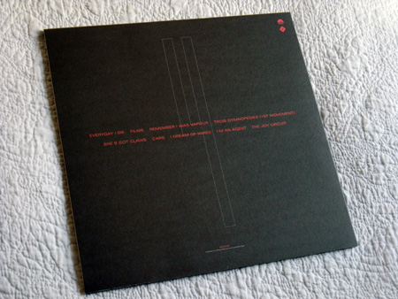 Gary Numan '80/81' Box Set - Disc 4 - 'Living Ornaments 81' sleeve rear cover