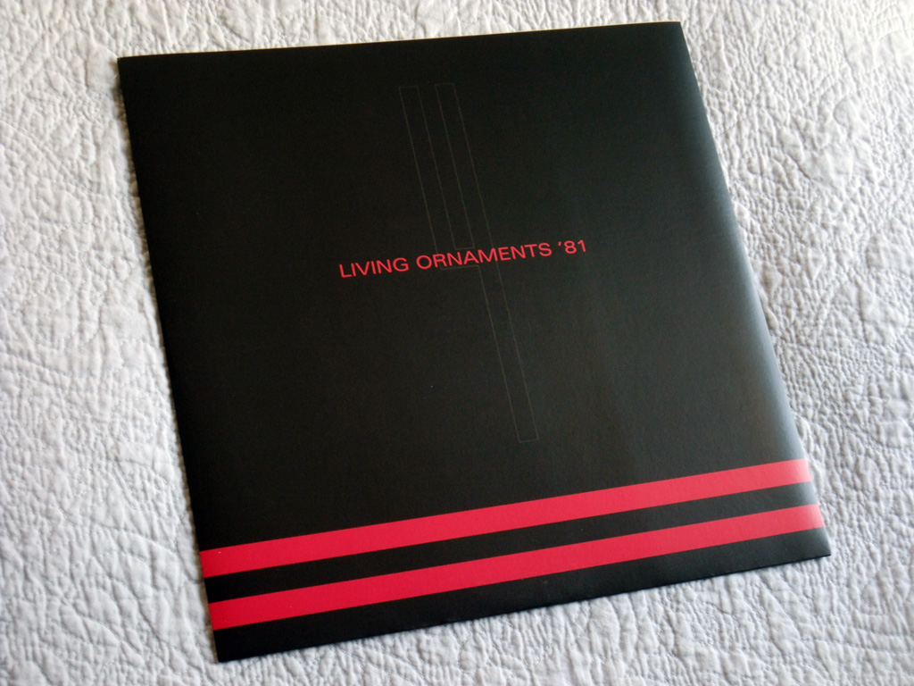 Gary Numan '80/81' Box Set - Disc 4 - 'Living Ornaments 81' inner sleeve front
