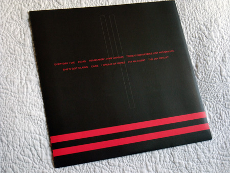 Gary Numan '80/81' Box Set - Disc 4 - 'Living Ornaments 81' inner sleeve rear