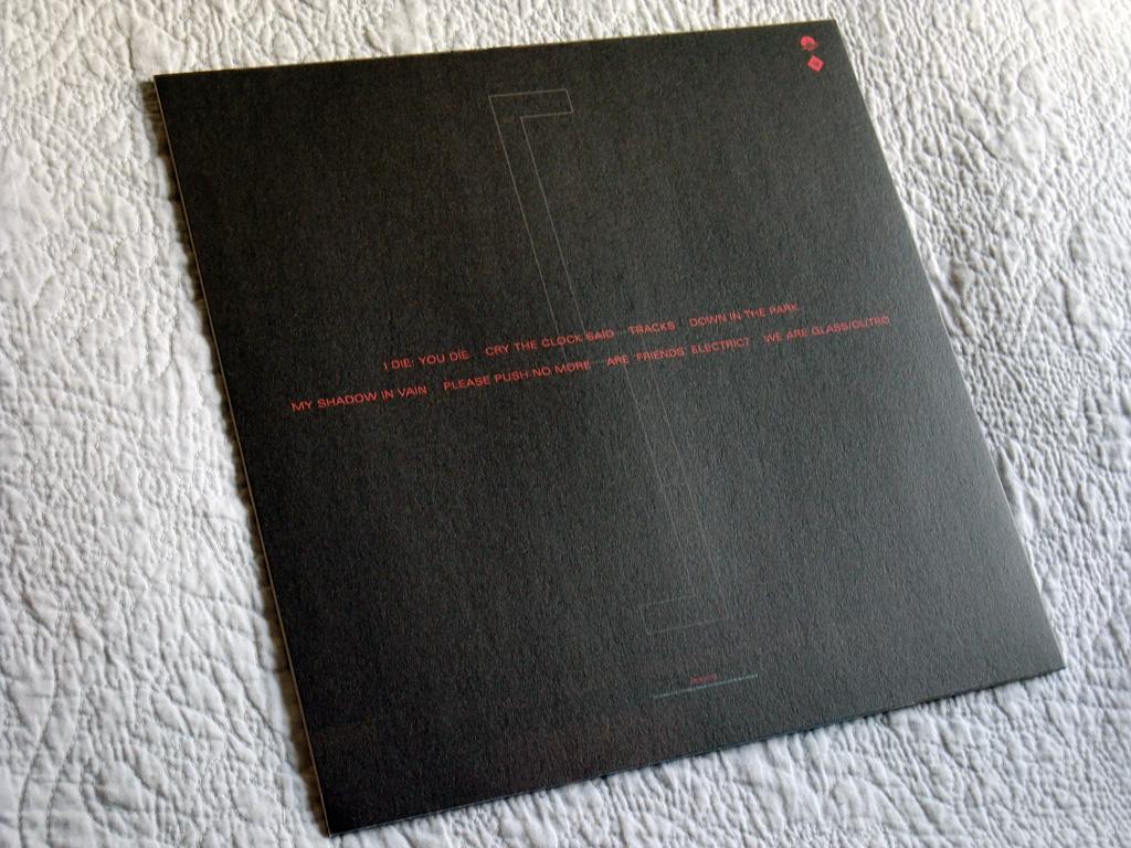 Gary Numan '80/81' Box Set - Disc 5 - 'Living Ornaments 81' sleeve rear cover