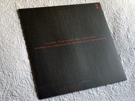 Gary Numan '80/81' Box Set - Disc 5 - 'Living Ornaments 81' sleeve rear cover