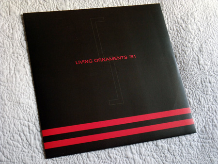 Gary Numan '80/81' Box Set - Disc 5 - 'Living Ornaments 81' inner sleeve front