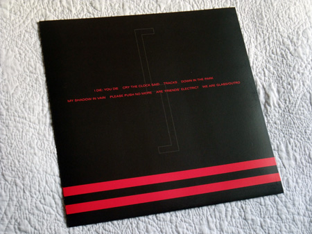 Gary Numan '80/81' Box Set - Disc 5 - 'Living Ornaments 81' inner sleeve rear