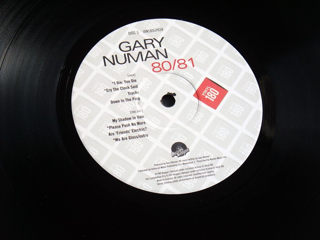 Gary Numan '80/81' Box Set - Disc 5 - 'Living Ornaments 81' label side 2