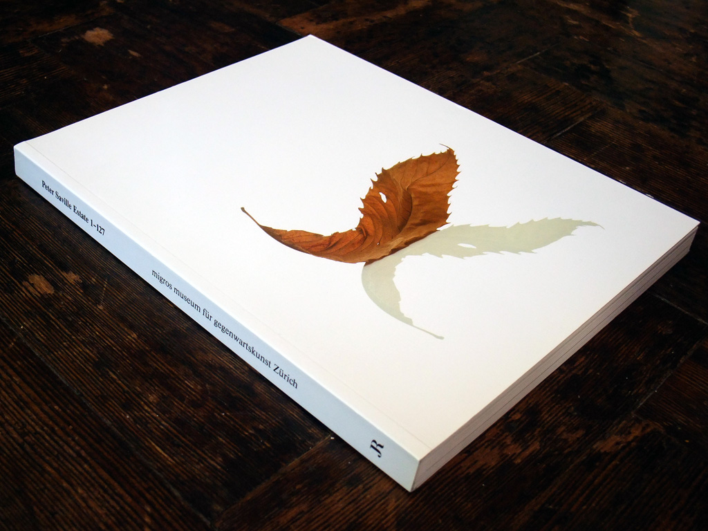 Peter Saville 'Estate 1-127' exhibition catalogue front cover