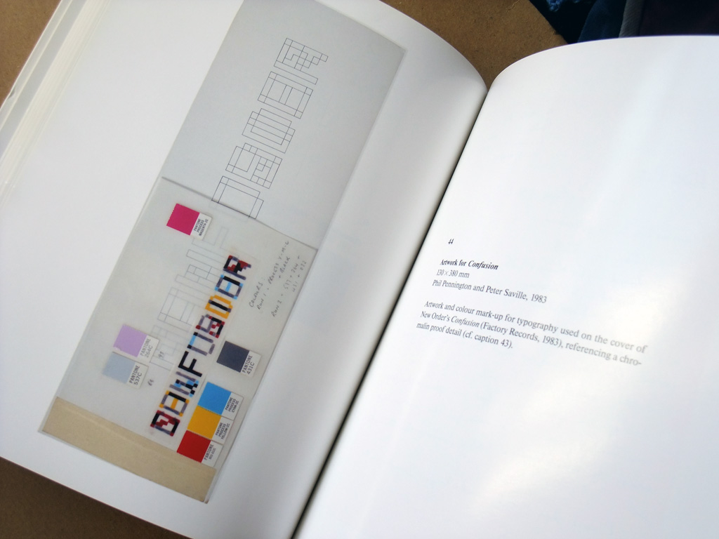 Peter Saville 'Estate 1-127' spread 1 - New Order - Confusion artwork detail