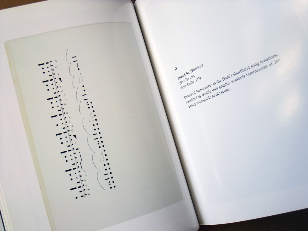 Peter Saville 'Estate 1-127' spread 2 - Orchestral Manoeuvres in the Dark Electricity artwork detail