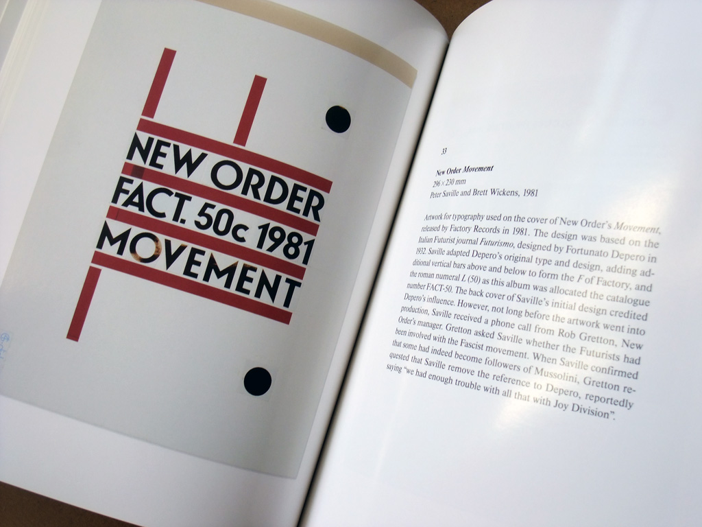 Peter Saville 'Estate 1-127' spread 5 - New Order - 'Movement' cassette inlay artwork detail