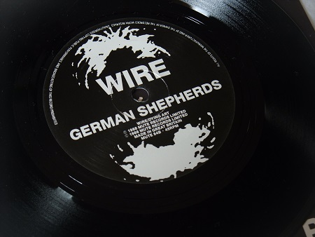 "Wire - Silk Skin Paws UK 7"" single label side B"