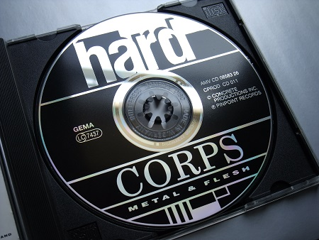 Hard Corps 'Metal and Flesh' 1990 CD - disc label