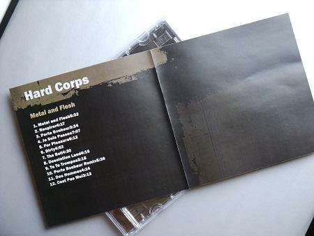 Hard Corps 'Metal and Flesh' 2009 Print on demand CD - insert spread