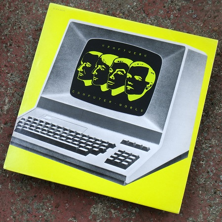 Kraftwerk - 'Computer World' Pathe-Marconi EMI French vinyl LP, 1981 - front sleeve design.