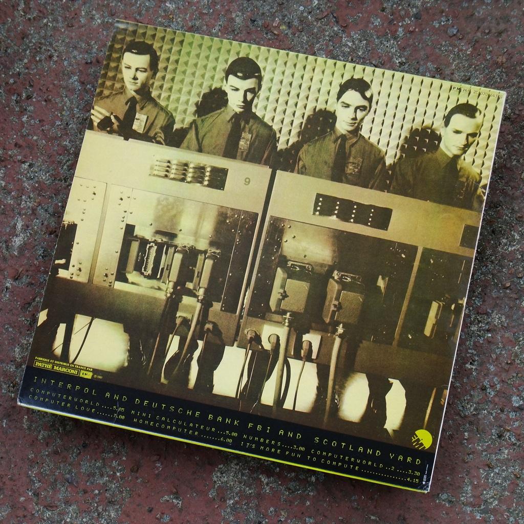 Kraftwerk - 'Computer World' Pathe-Marconi EMI French vinyl LP, 1981 - rear sleeve design.