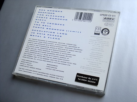 Hard Corps 'Metal and Flesh' 1990 CD - rear case