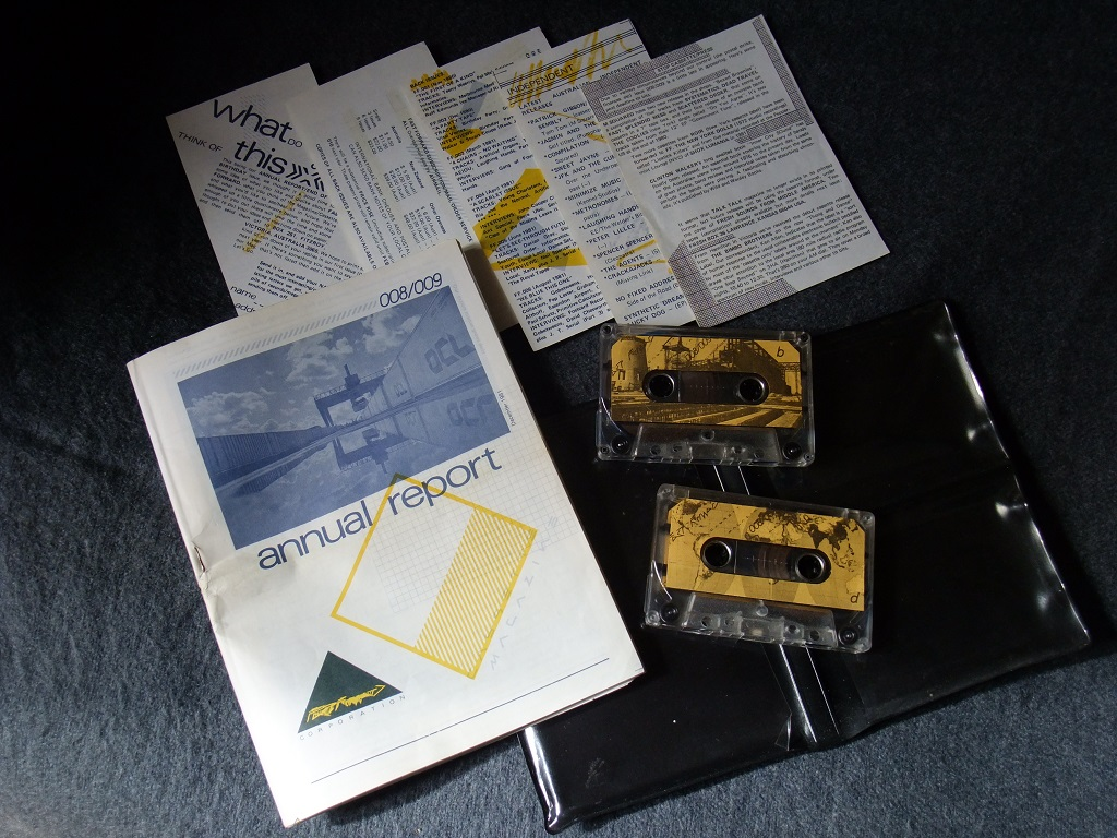 Fast Forward 008/009: Annual Report cassette magazine - booklet front cover