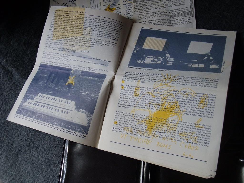 Fast Forward 008/009: Annual Report cassette magazine - booklet spread 3