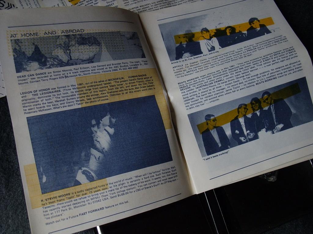 Fast Forward 008/009: Annual Report cassette magazine - booklet spread 5