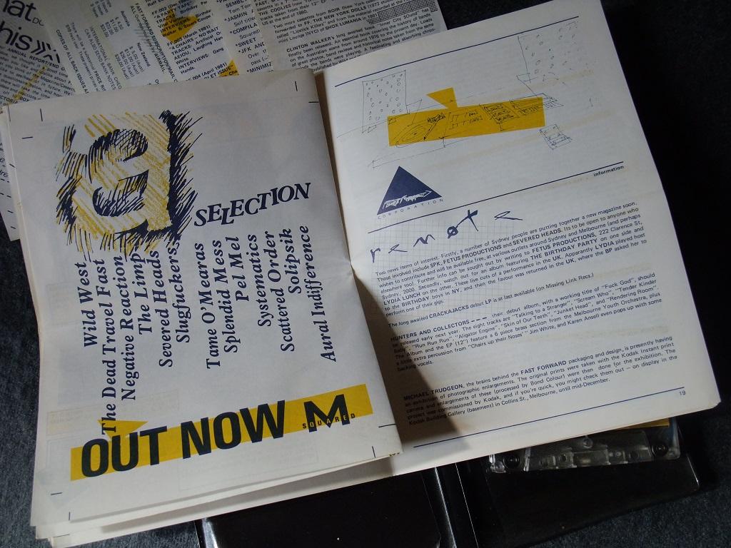 Fast Forward 008/009: Annual Report cassette magazine - booklet spread 9