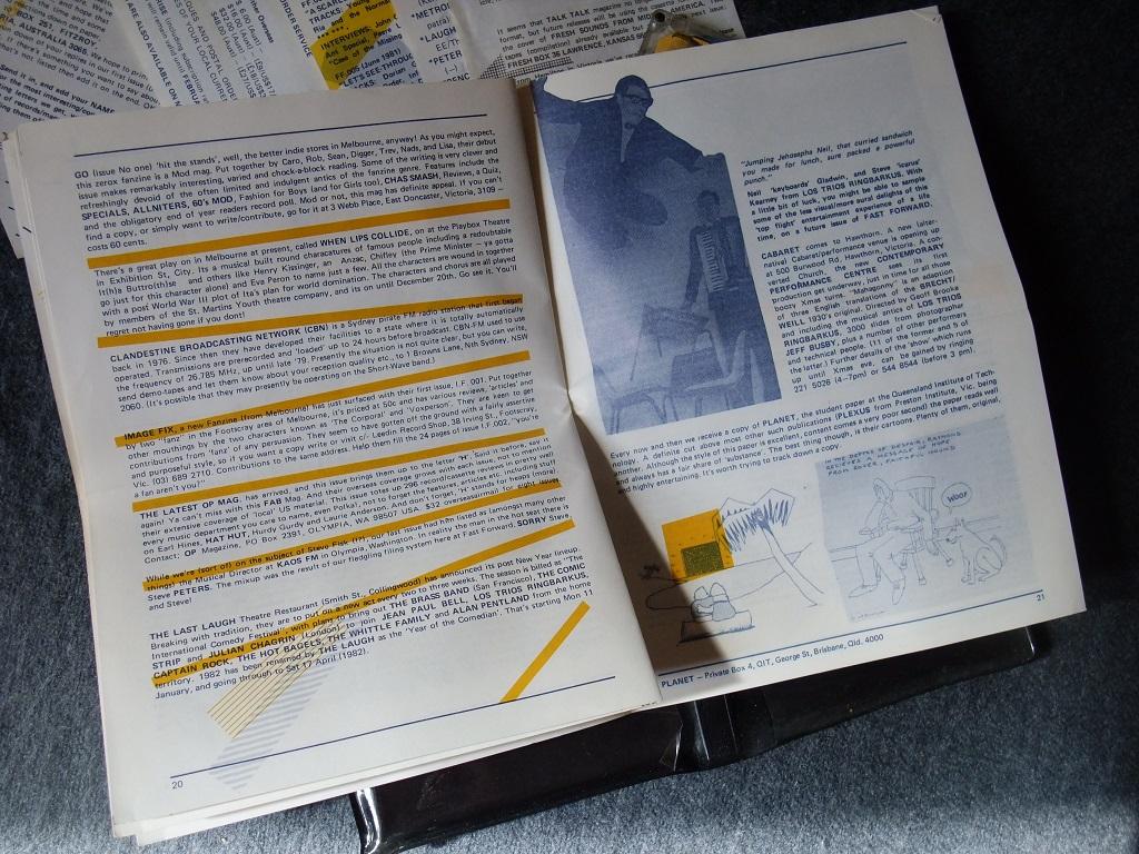 Fast Forward 008/009: Annual Report cassette magazine - booklet spread 10
