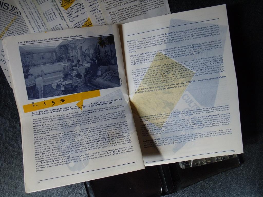 Fast Forward 008/009: Annual Report cassette magazine - booklet spread 11