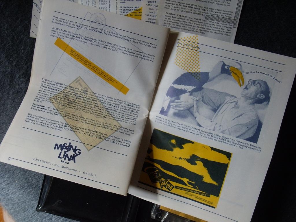 Fast Forward 008/009: Annual Report cassette magazine - booklet spread 12