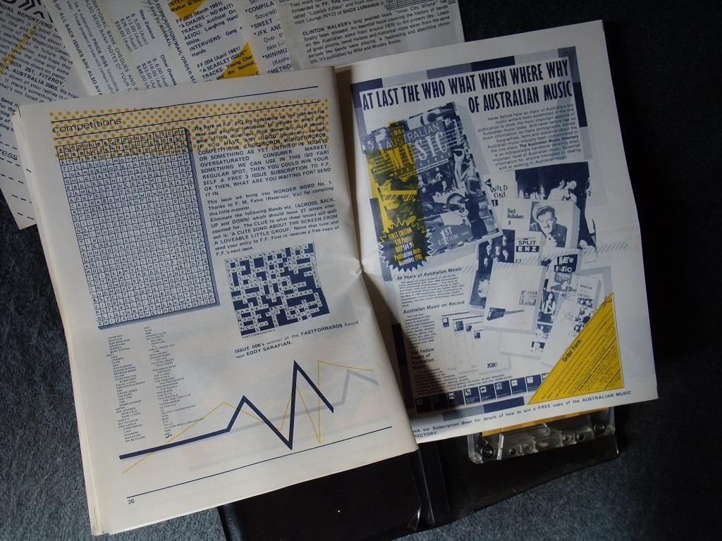 Fast Forward 008/009: Annual Report cassette magazine - booklet spread 13