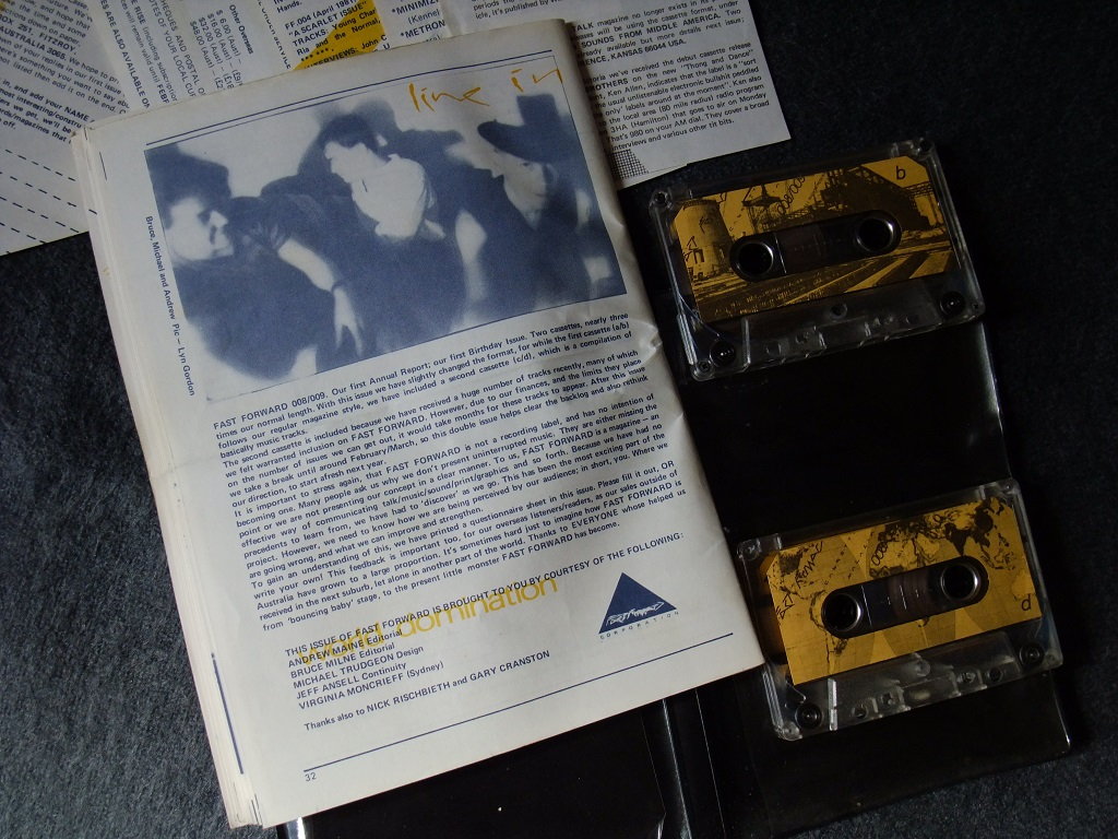 Fast Forward 008/009: Annual Report cassette magazine - booklet rear cover