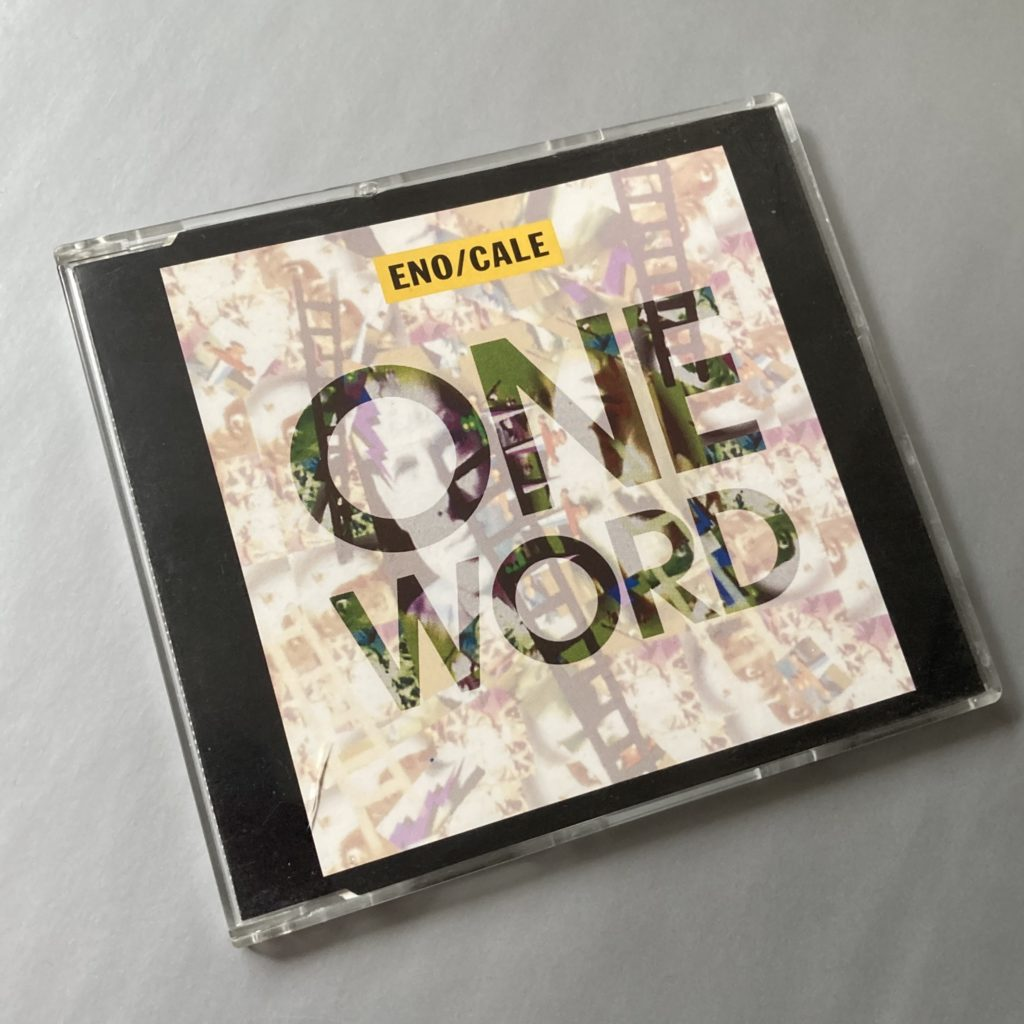 Brian Eno and John Cale - 'One Word' UK CD single front cover design