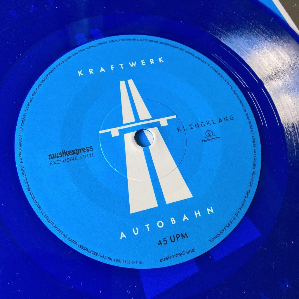 """Kraftwerk - 'Autobahn' MusikExpress magazine German 7"""" single label"""