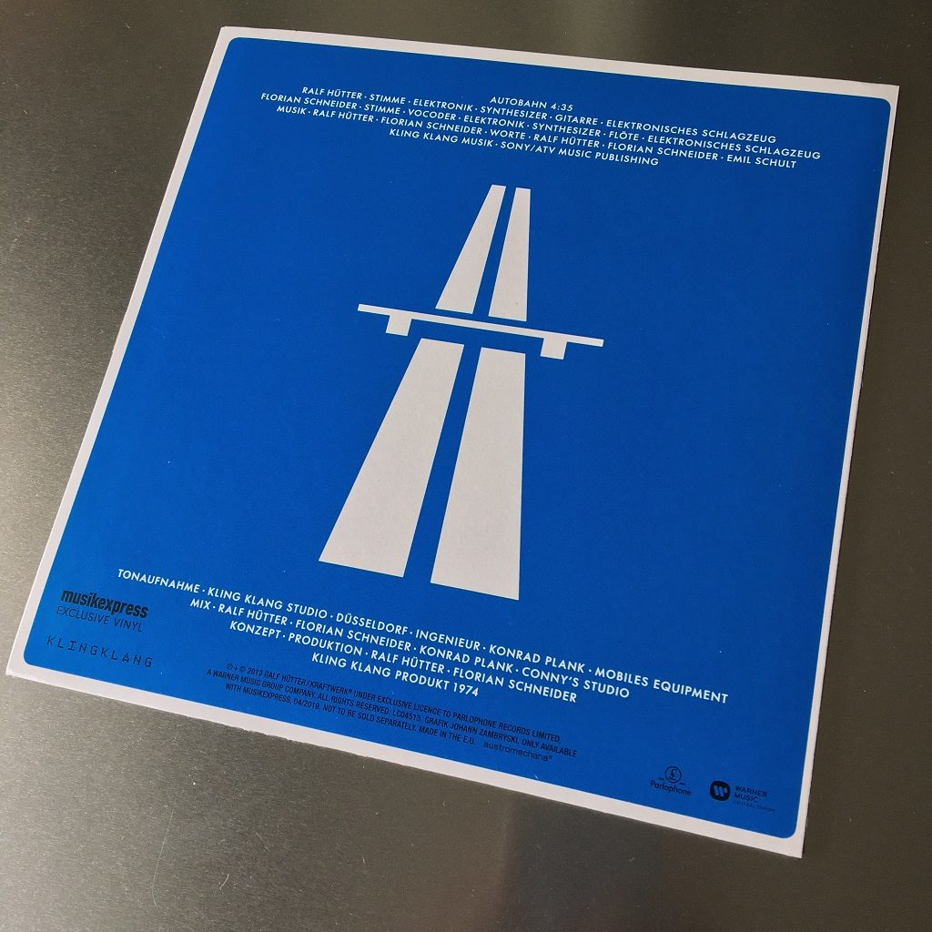 "Kraftwerk - 'Autobahn' MusikExpress magazine German 7"" single rear cover"