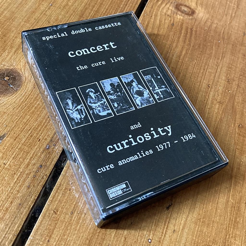 The Cure 'Concert and Curiosities' UK cassette
