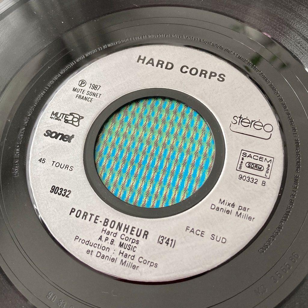 Hard Corps - Porte-Bonheur French 7 inch label Sud