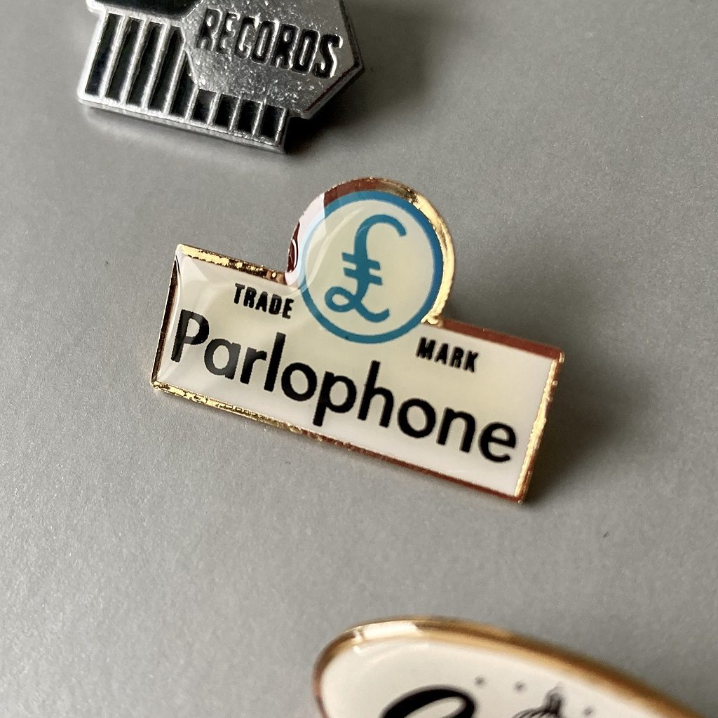Parlophone Records button badge
