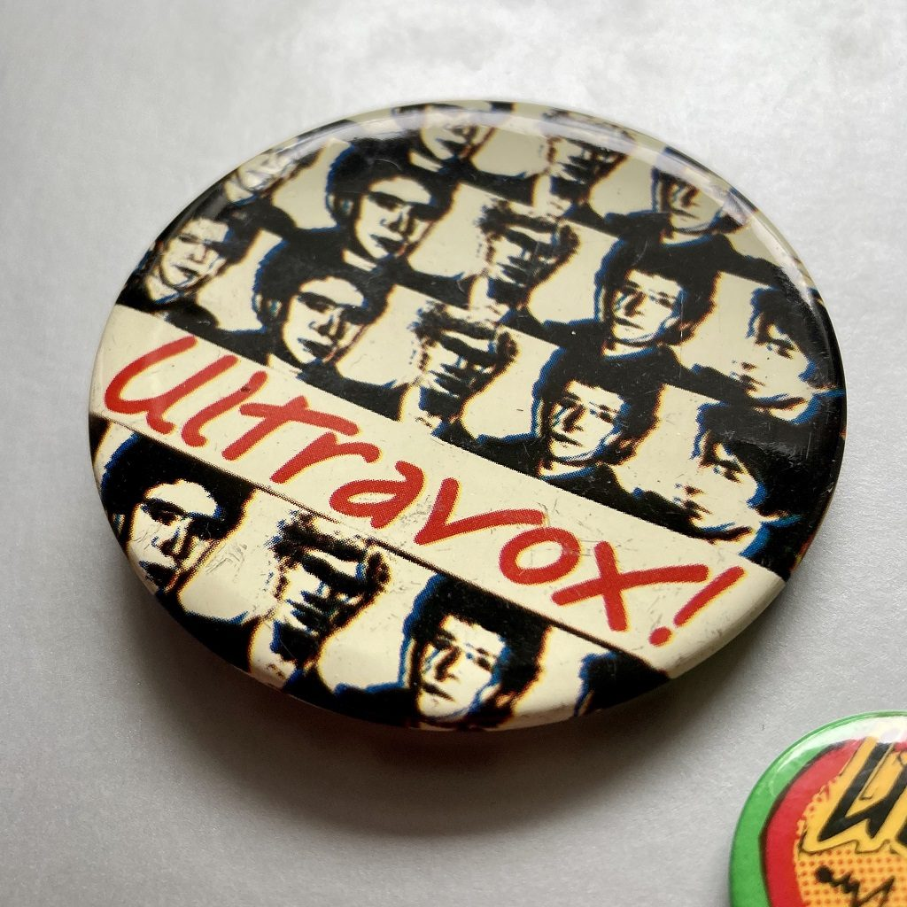 Ultravox! - Ha!-Ha!-Ha! era design badge