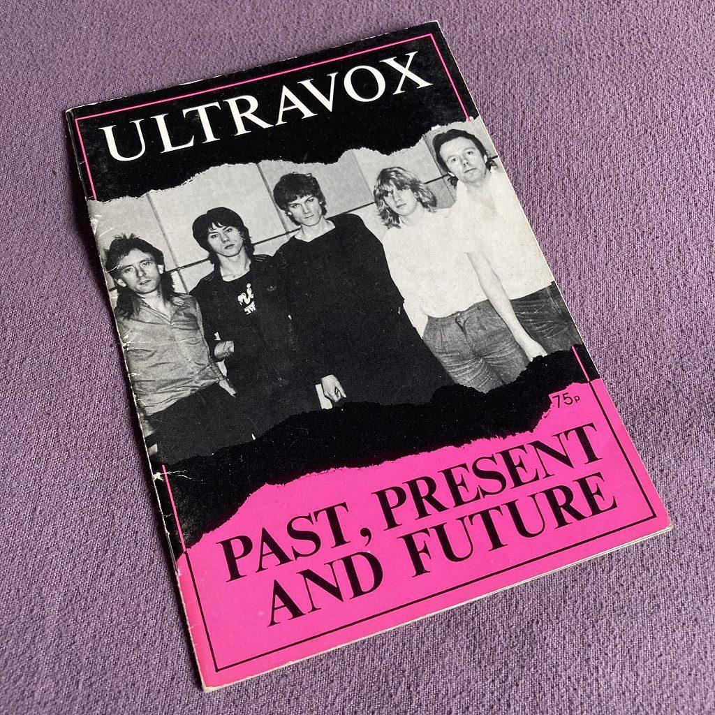 Ultravox 'Past, Present and Future' fanzine front cover