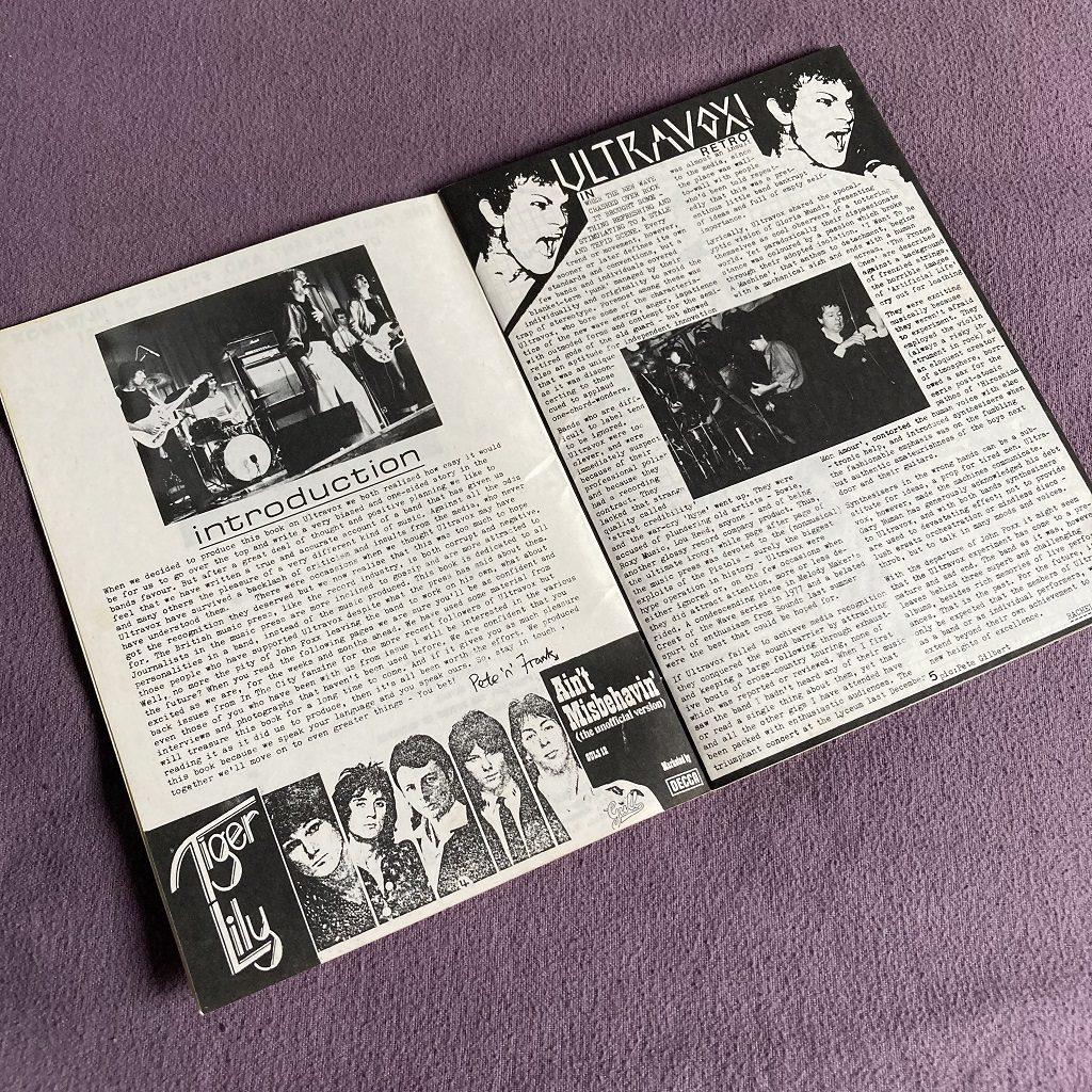 Ultravox 'Past, Present and Future' fanzine spread 1