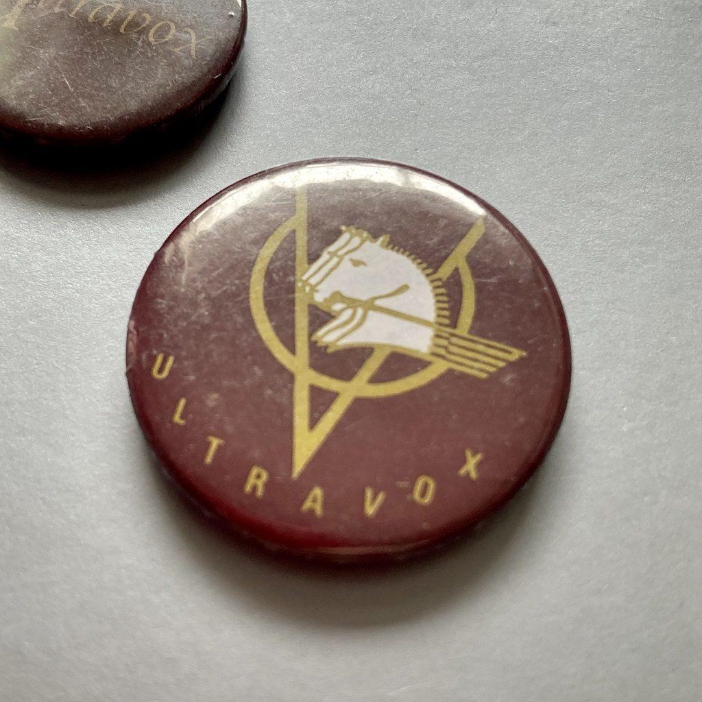 Ultravox 1981 Smash Hits magazine giveaway badge