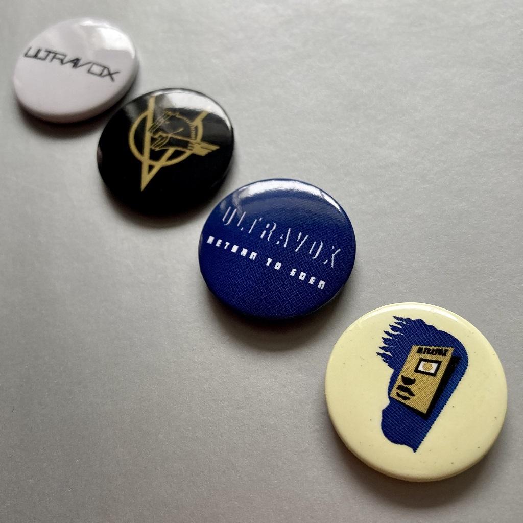 Ultravox 2009 'Return To Eden' button badge set