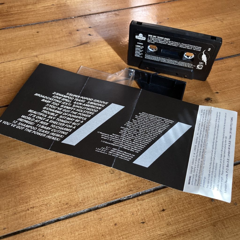 Win 'Uh! Tears Baby (A Trash Icon)' cassette inlay rear