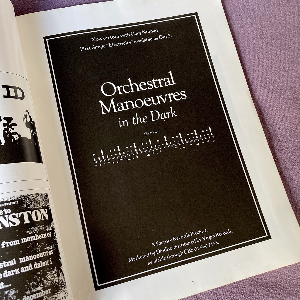 Orchestral Manoeuvres in the Dark: Music 1977-80 book excerpt 4