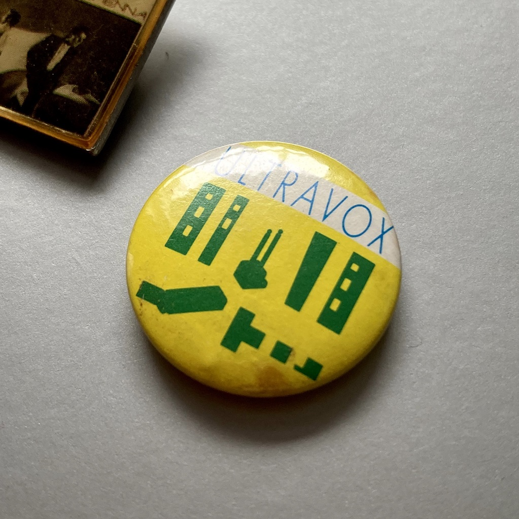 Ultravox - Reap The Wild Wind era design badge