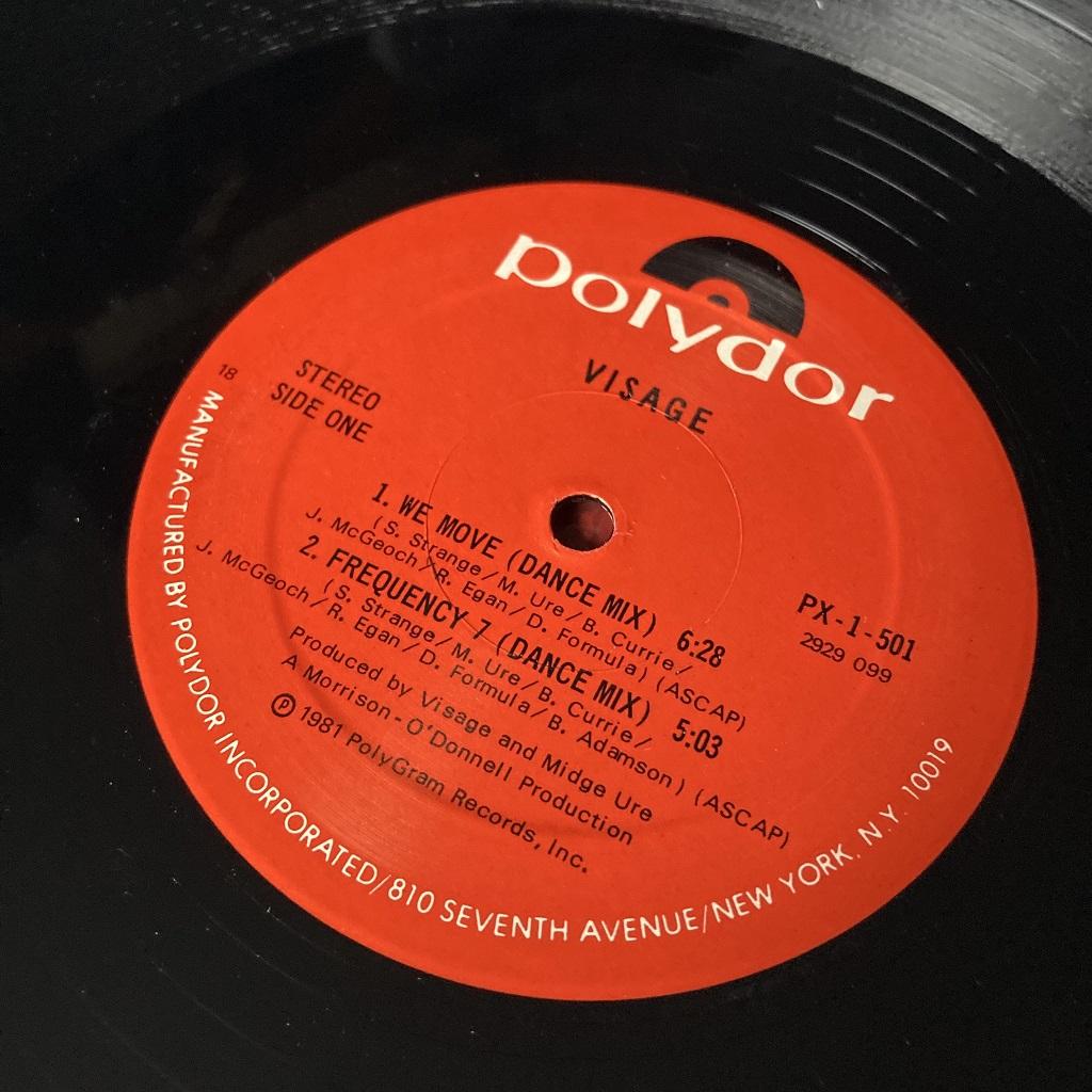 Visage - 'Visage' US Mini-Album label side A