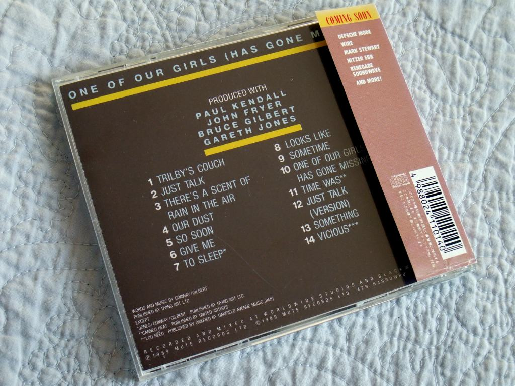 A.C.Marias - 'One Of Our Girls' Japanese CD - rear case design