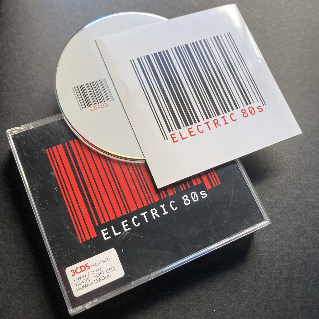 Electric 80s compilation CD - case, insert and disc 1 (of 3).